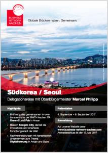 Broschüre Delegationsreise Südkorea 2017